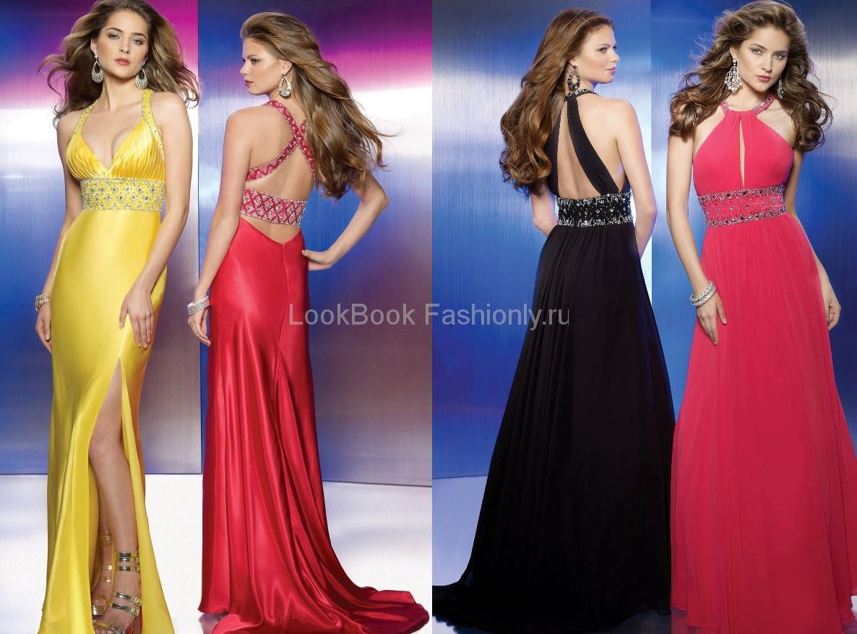 Интересное выпускные длинные платья