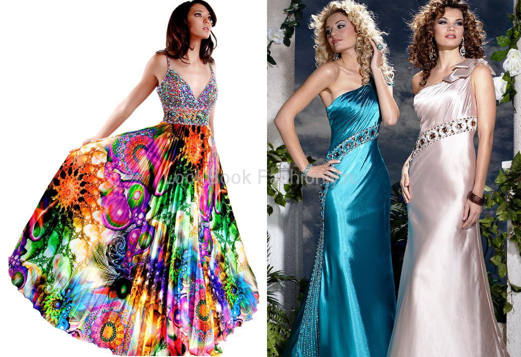красивые длинные платья картинки.
