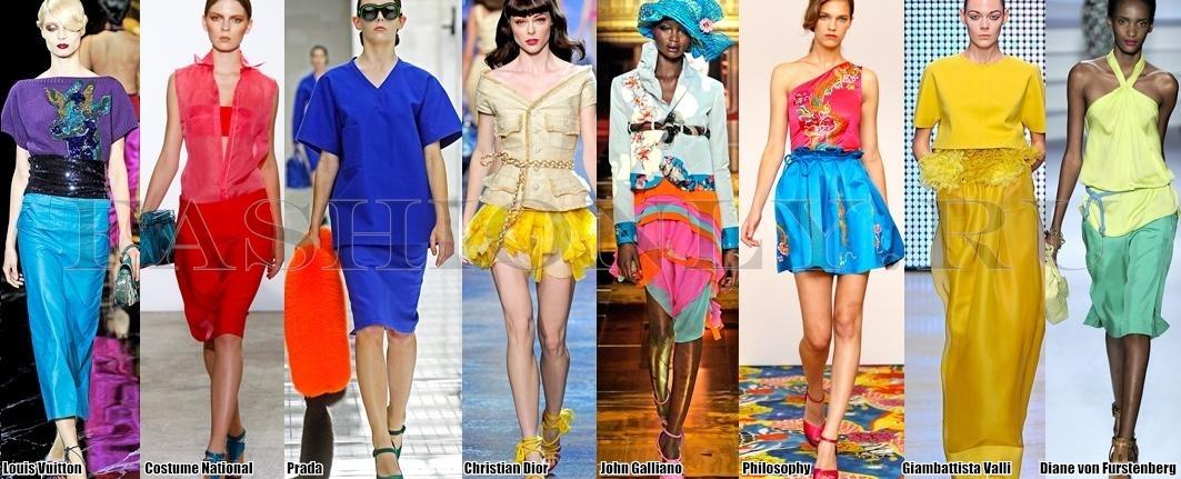 Модные юбки ярких расцветок