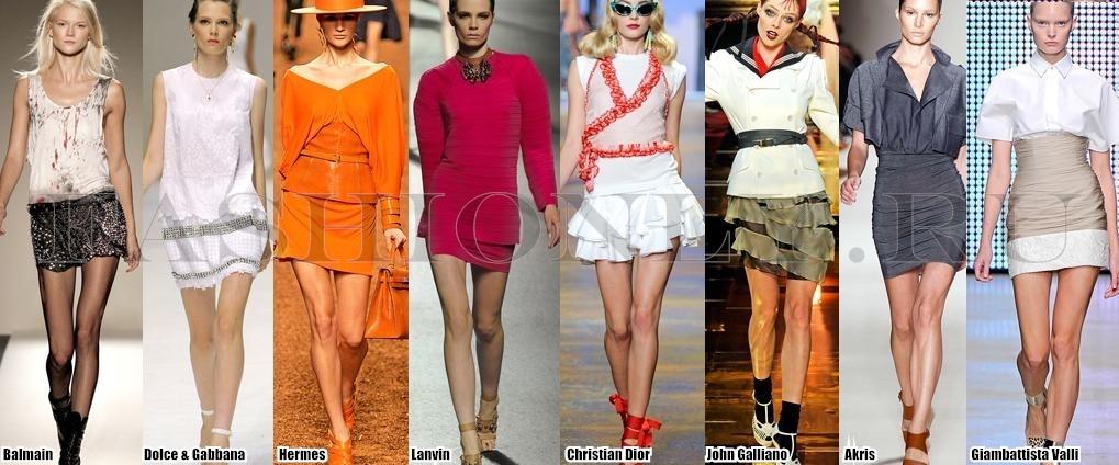 Модные юбки карандаш, стильные короткие юбки на лето.