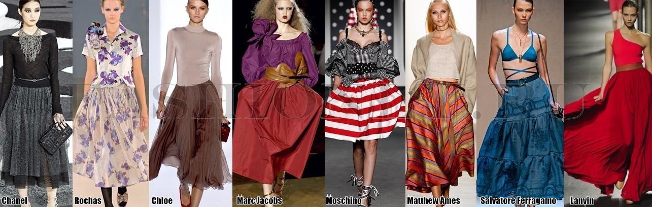 Модные юбки 2011 - пышные юбки.