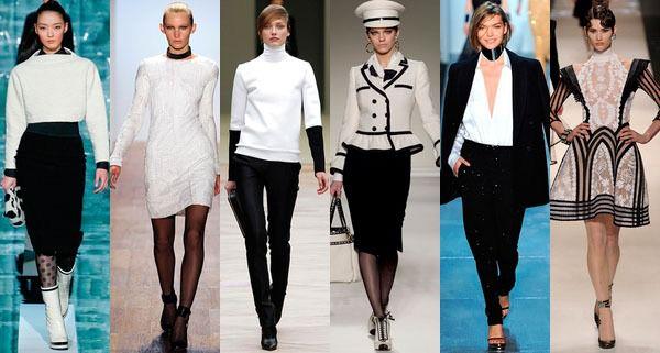 Черно-белый цвет. Тенденции 2013 года