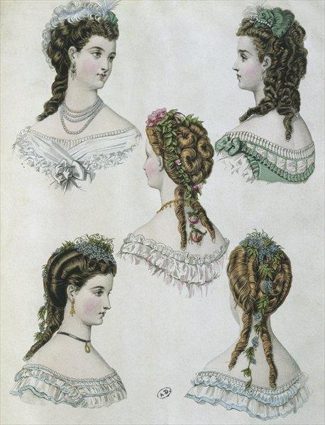 модные прически конца 19 века
