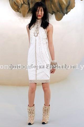 Белое платье 2010 от Chanel