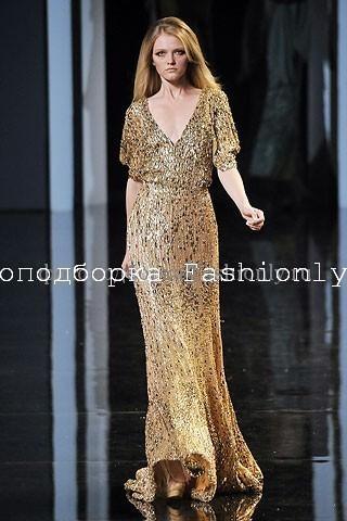Блестящее модное платье 2010 от Elie Saab