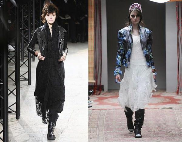 Модные тенденции осени 2010: кожа и кружево Limi Feu и Meadham Kirchhoff