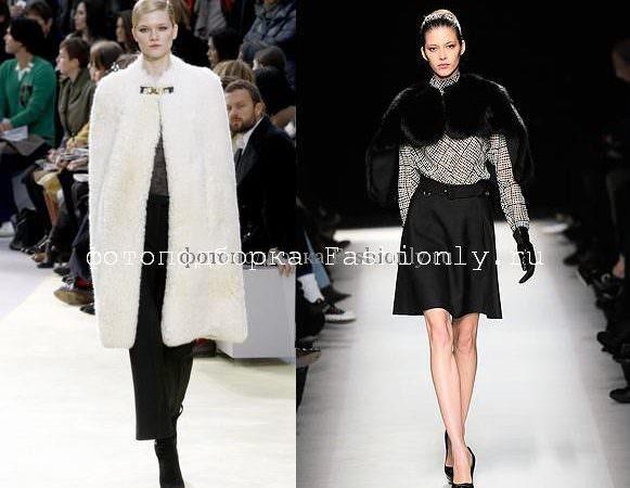 Тенденции моды осень 2010 выбирает накидки! Image