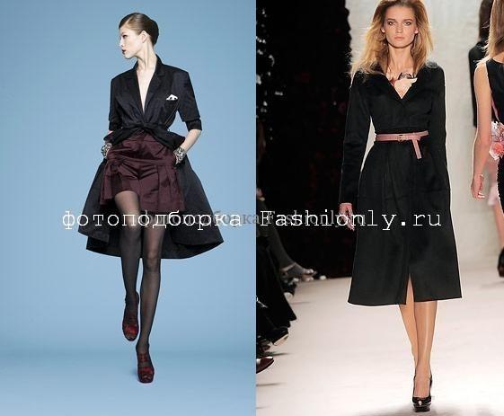 Модные плащи 2010 от Yves Saint Laurent и Nina Ricci