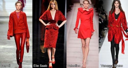 Модный цвет осени 2010 - красный