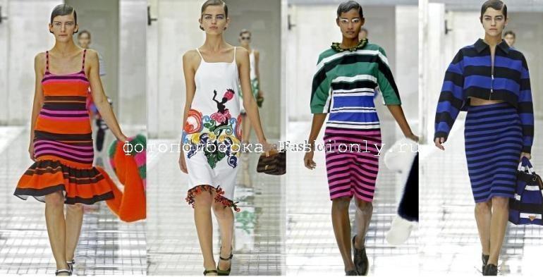 Показ мод 2011 Prada - весна в полоску!