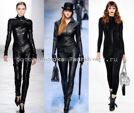 Кожаные комбинезоны 2010 от Altuzarra и Hermès