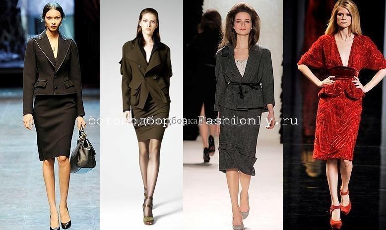 Деловой костюм фото из коллекций Dolce & Gabbana, Donna Karan, Nina Ricci и Elie Saab