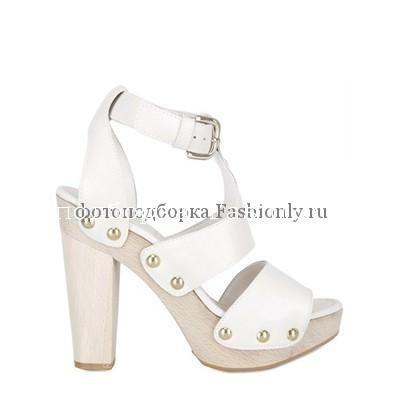 Белые туфли на платформе от STUART WEITZMAN