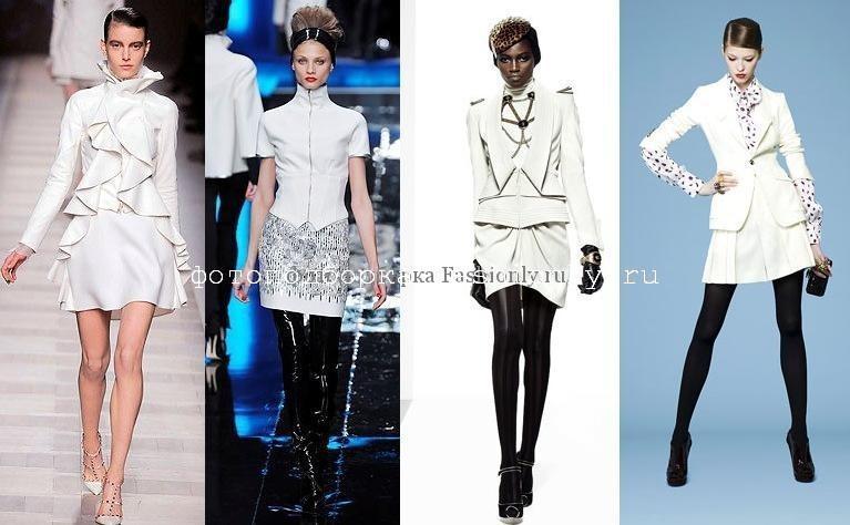 Белый деловой костюм фото из коллекций Valentino, Karl Lagerfeld, Temperley London, Yves Saint LaurentБелый деловой костюм фото из коллекций Valentino, Karl Lagerfeld, Temperley London, Yves Saint Laurent