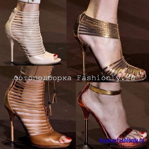 Коричневые босоножки Gucci 2011