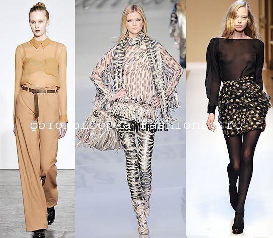 Модные блузки 2010, шифоновые блузки 2010, блузки из шифона
