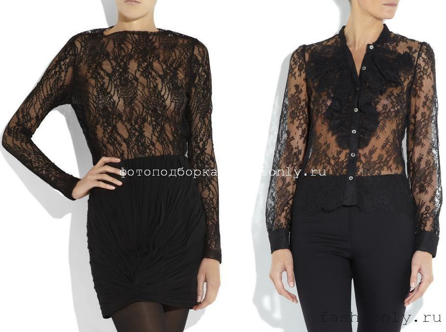 Кружевные модели блузок Bess, Karl Lagerfeld