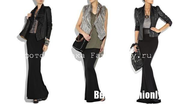 Офисная мода 2010 - в моде макси юбка.