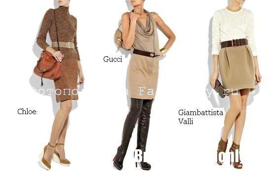 С чем носить коричневую юбку