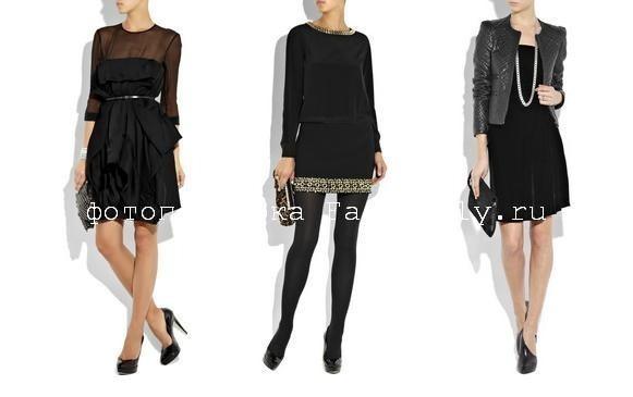 Черное платье фото, маленькое черное платье 2010, черное платье с чем носить