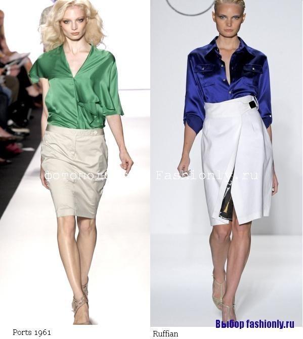 Атласные блузки 2011