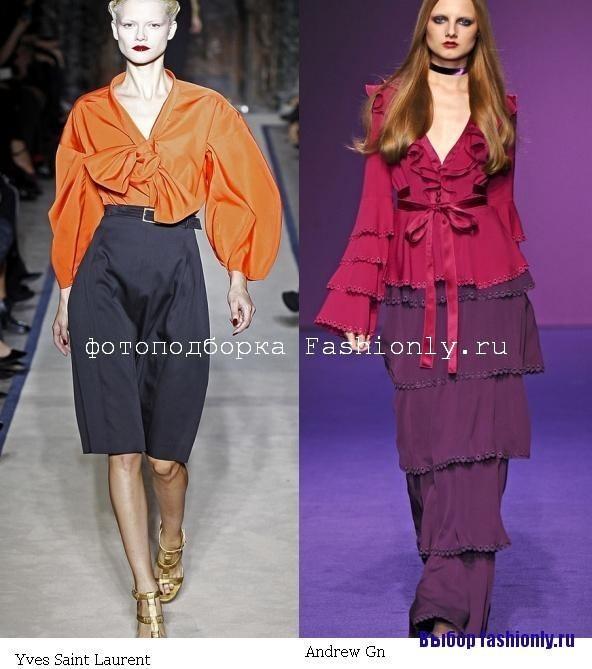 Блузки 2011 фото ярких блузок