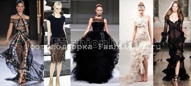 Вечерние кружевные платья 2011