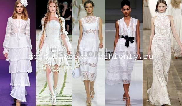 Белые кружевные платья 2011