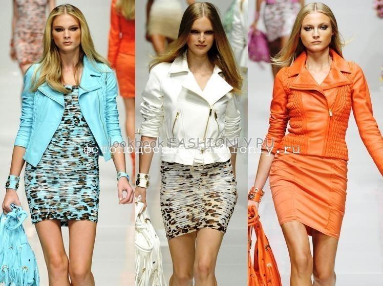 Короткие кожаные куртки 2011 от Blumarine