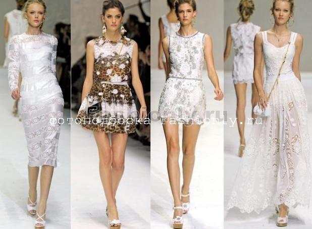 Платья с кружевом 2011 от Дольче Габбана
