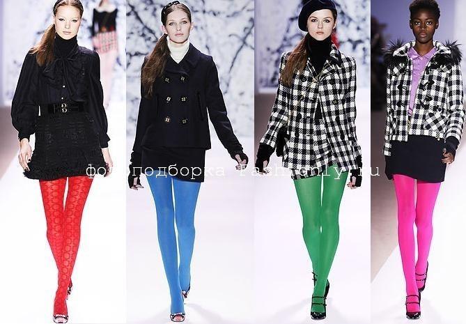 Модные цветные колготки 2011 от Milly