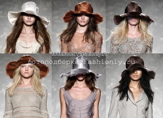 Шляпы 2011 фото с показа Alberta Ferretti
