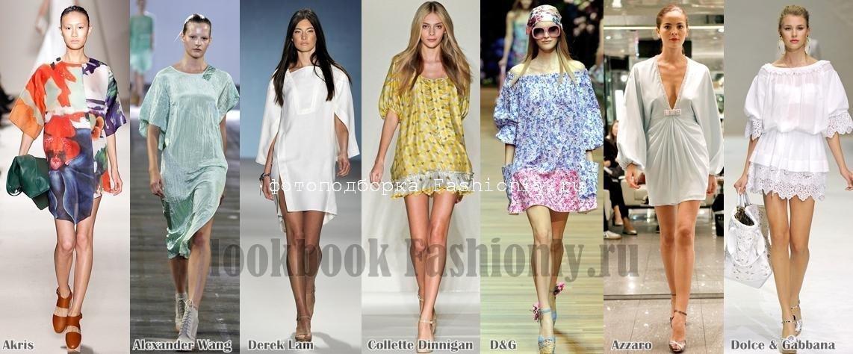 Летние платья туники 2011
