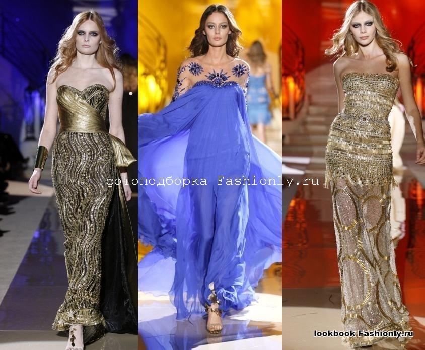 Платья без бретелей фото с показа Zuhair Murad