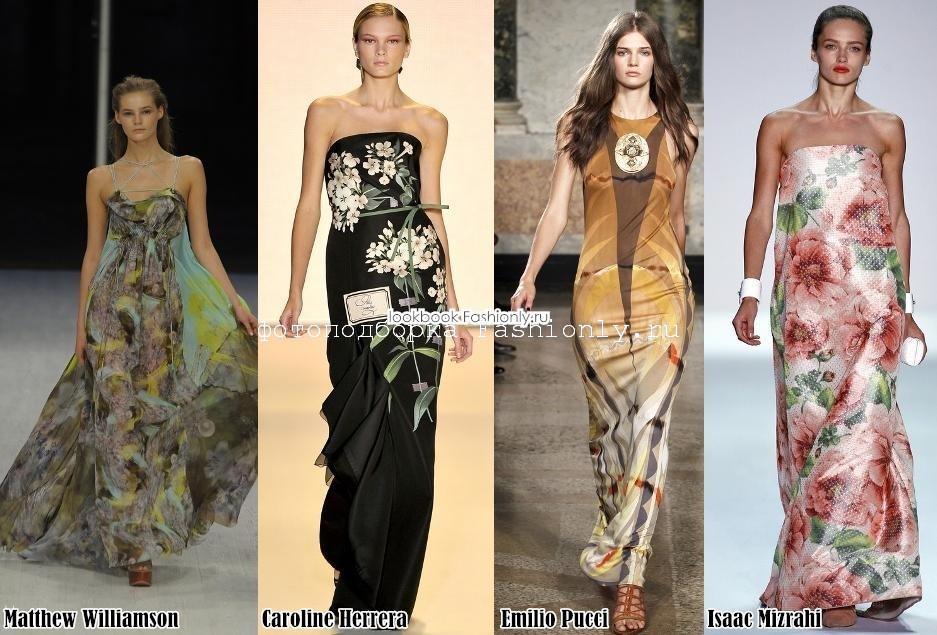 Вечерние платья 2011 с принтом