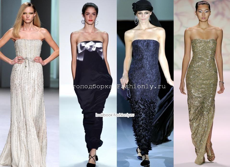 Вечерние платья бюстье 2011