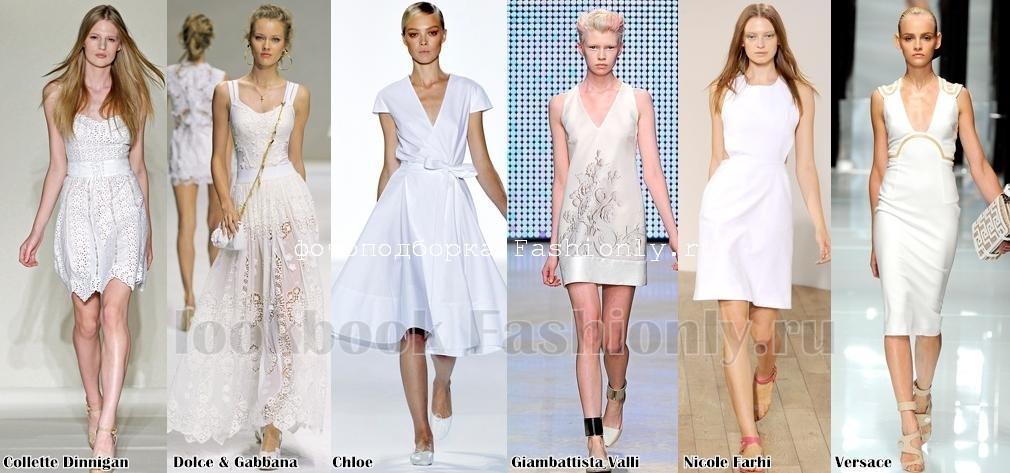Белые летние платья 2011