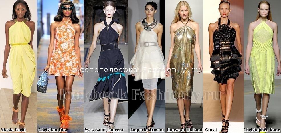 Летние платья 2011 с завязкой на шее