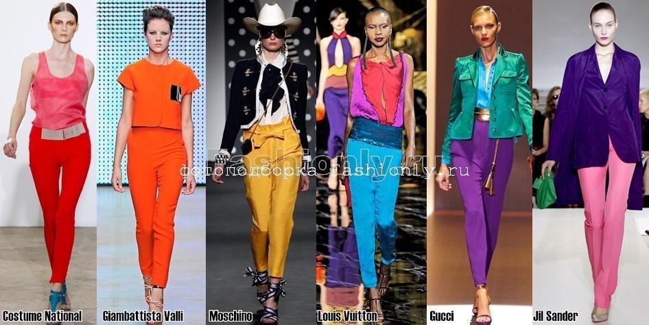 Яркие модели брюк 2011