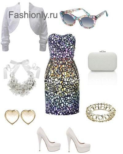Леопардовое платье с чем носить?