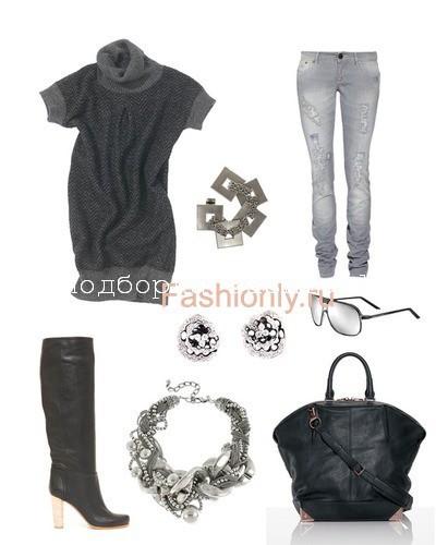 Шерстяные туники с чем носить