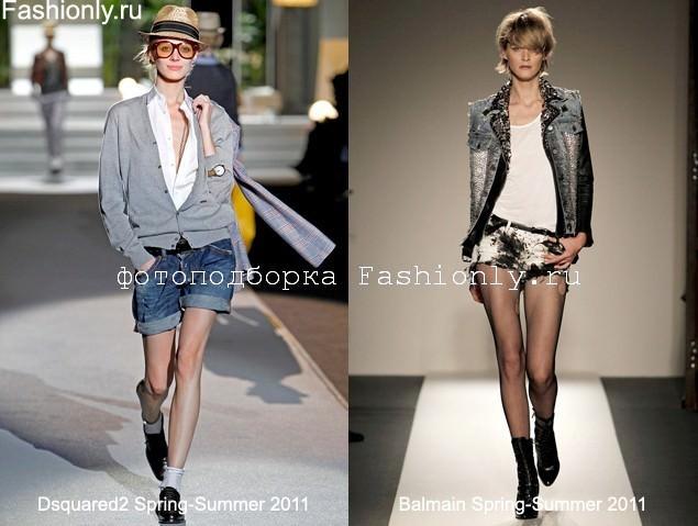 Джинсовые шорты с чем носить - фото