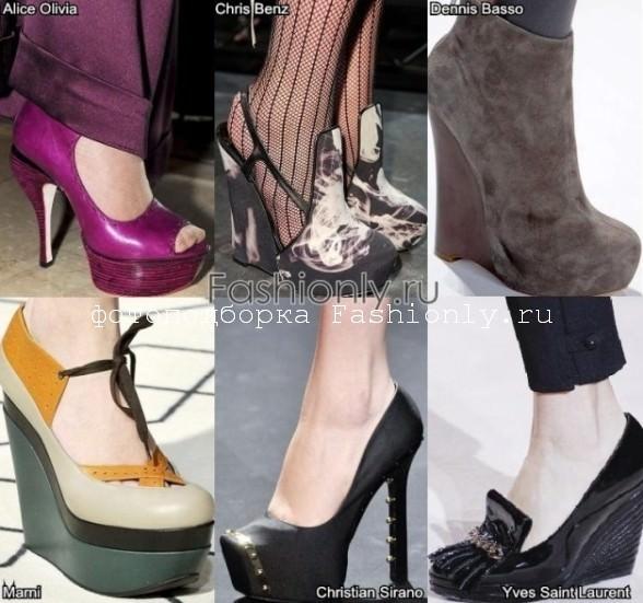 Обувь на платформе - осень 2011