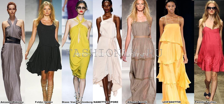 Однотонные модели сарафанов 2011