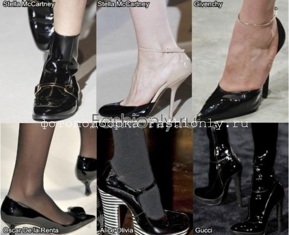 Лакированная обувь осени 2011 года