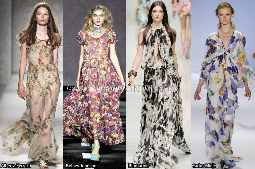 Мода лета 2011 фото с показов