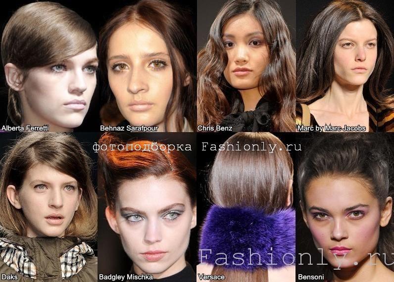 Темный цвет волос фото с осенних показов