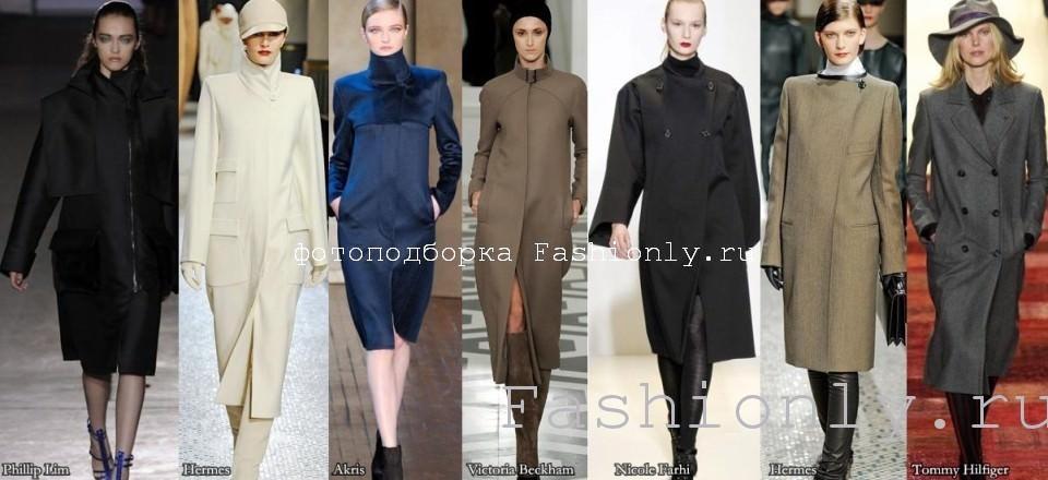 Прямое пальто осень зима 2011 2012
