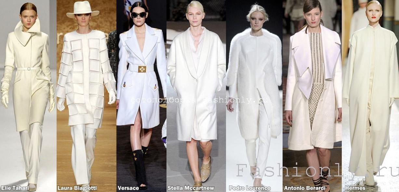 Белое пальто 2011-2012 осень зима