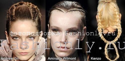 Модные прически 2011 - плетения из косичек